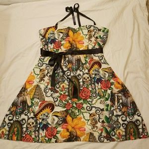 Day of the Dead Pinup Dress sz XL